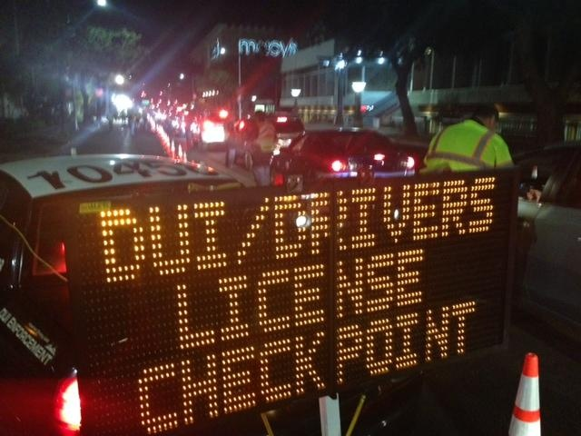 DUI Checkpoint in Los Angeles - LAPD - YouTube